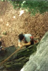 beim klettern einen abseilen